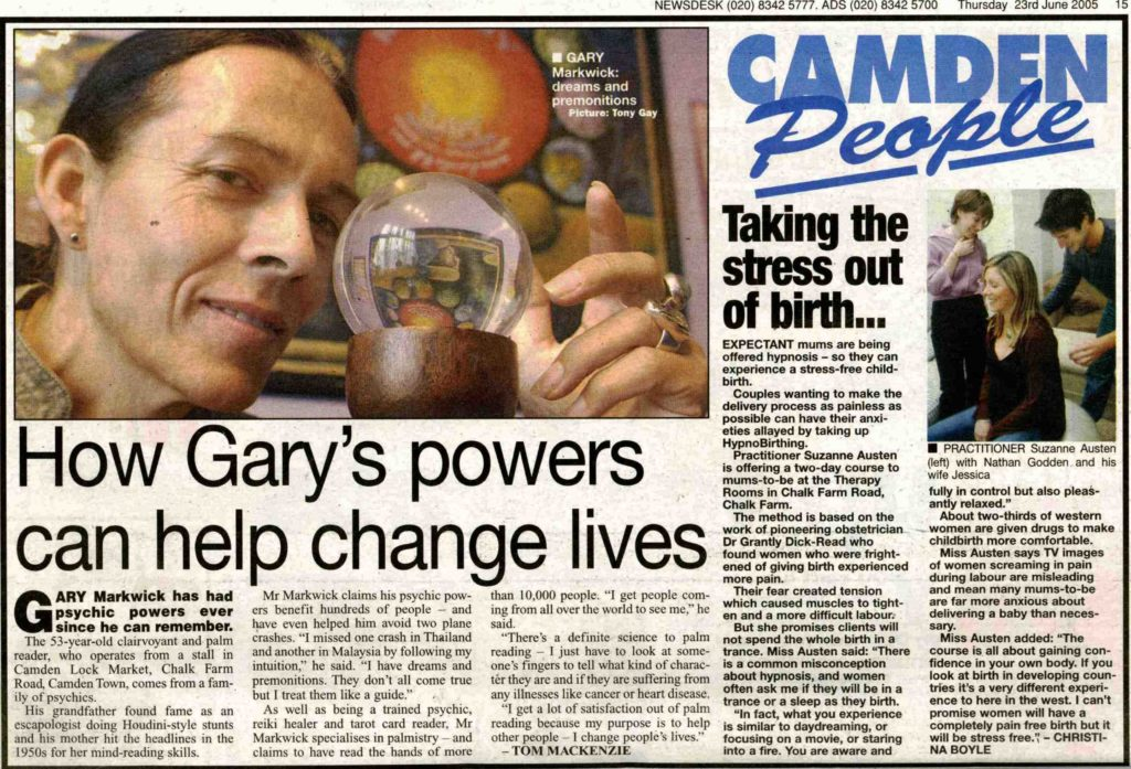 Camden People article about how Gary's powers can help change lives