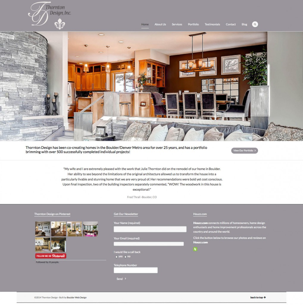 home design website. Thornton Design Website Portfolio  Holistic Web