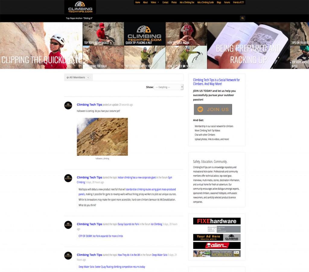 climbingtechtips.com- a memberhip and social networking website for climbers